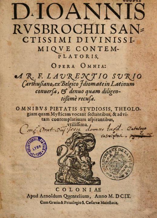JAN VAN RUYSBROECK († 1381)