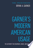 Garner's Modern American Usage Book Cover
