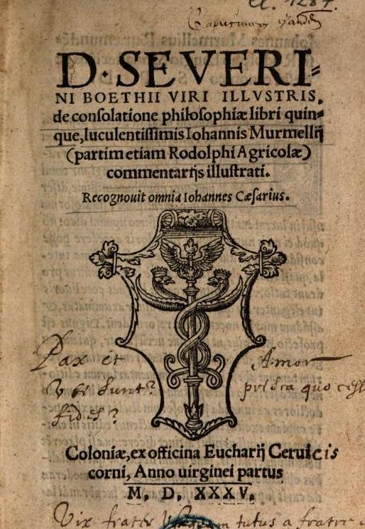 Anicius Manlius Severinus Boëthius († 525)