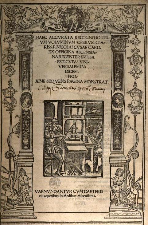 Nikolaus von Kues / Nicolaus Cusanus († 1464)