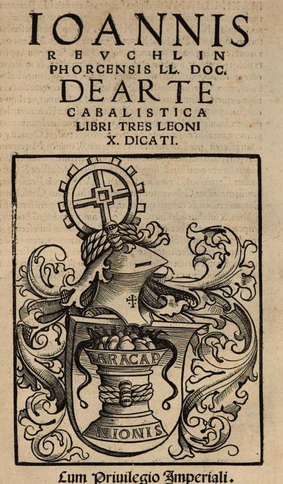 Johann Reuchlin (+ 1532)